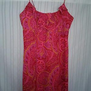 Helen Wang Pink Paisley Silk Summer dress size 10